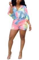 Jersey de manga larga multicolor y pantalones cortos