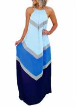 Vestido Largo Halter Multi-Color