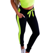 Спортивные брюки с контрастной талией