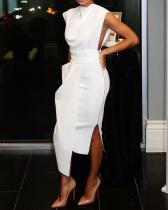 Sexy einfarbige Mode-Design ärmelloses formelles Kleid