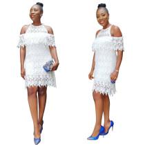 Elegant White Color Dress