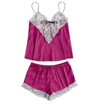 Lace Detailed Top en Shorts nachtkleding