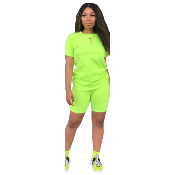 Plain Basic Shirt and Tight Shorts
