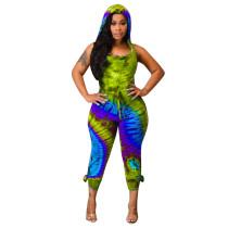 Sexy Batik-Kapuzenpullover mit offenem Rücken