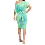 Vestido de Batik Midi Casual