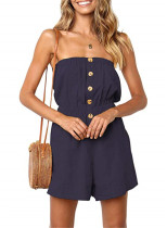 Casual Strapless Loose Rompers