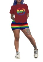 Imprimir camiseta básica y pantalones cortos de colores