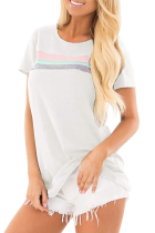 O-hals strepen basic shirt