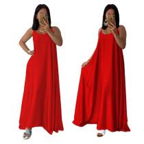 Loszittende bandjes Lange jurk