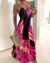 Imprimir Sext Halter vestido largo