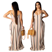 Vestido largo rayas rayas coloridas