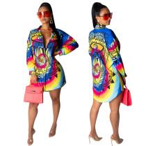Blouse haute à imprimé coloré africain