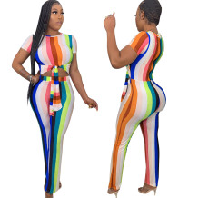 Sexy Colorful Knot Bodycon Jumpsuit