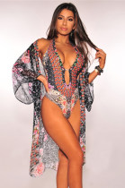 Print One-Piece Sexy Swimwear and Cover Ups