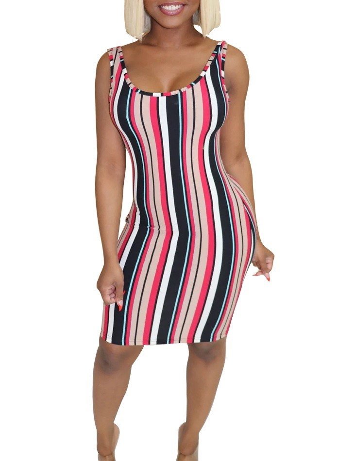 Robe Coloree En Gros A Rayures Et A Rayures Global Lover