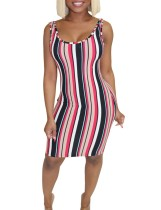 Colorful Stripped Tight Tank Dress