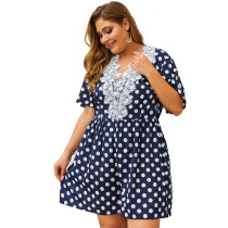 Plus Size V-Neck Polka Rompers