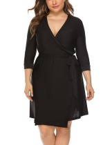 Büyük Beden Siyah Kayışlı Elbise Kemeri