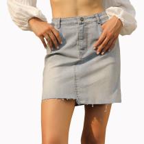 Mini falda vaquera azul claro