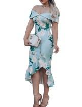 Vestido de fiesta floral sirena cariño