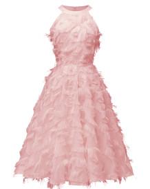 Halter Bridemade Peluş Elbise