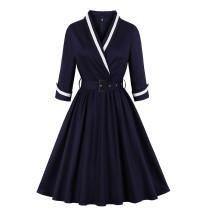 Wikkel Blue Vintage Skater Dress