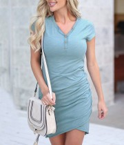 Sheer Wrapped Ruch Mini vestido