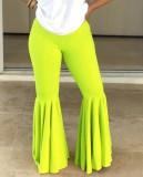 Leggings de campana de color liso sexy