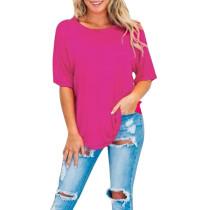 Chemise ample à col rond et manches courtes