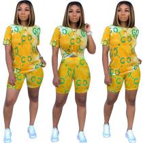 Imprimir Batik camisa y pantalones cortos
