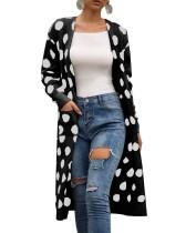 Manteau pull long à poches
