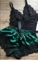 Sexy detaillierte zweiteilige Träger Nachtwäsche