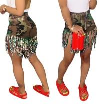 Camou Tassels-shorts met print