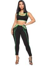Tweedelige sportbeha-set voor dames en lange broeken