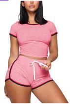 Sport sexy crop top en shorts