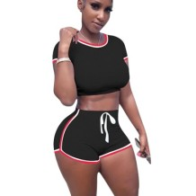 Sports Sexy Crop Top and Shorts