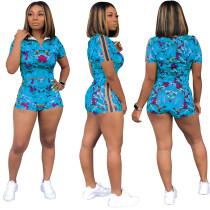 Imprimir Tight Crop Top y pantalones cortos