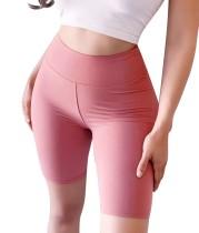 Sexy Plain Solid Tight Yoga Shorts