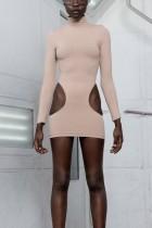 Клубное платье с длинными рукавами и длинными рукавами