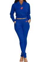 Sports Drawstring Long Sleeve Sweat Suit