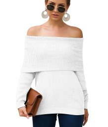 Turndown Collar Long Sleeve Knitted Top