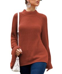 O-Neck Pullover Sweaters with Wide Sleeves