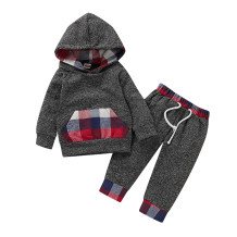 Baby Boy Red and Gray Long Sleeve Hoody and Pants