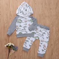 Baby Boy Traje de manga larga con estampado animal