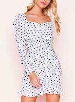 Mini vestido vintage con estampado de lunares
