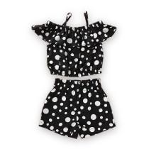 Kids Girl Dot Print 2 PCS shorts set