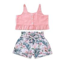Kindermeisje bloemenprint 2 PCS shorts set