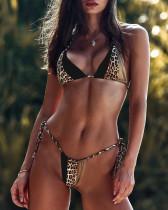 Maillot de bain sexy imprimé léopard