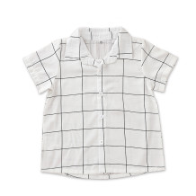 Kinder Boy Plaid Print kurzen Ärmeln Shirt