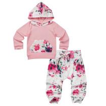 Sweaterpak met lange mouwen en bloemenprint voor kinderen